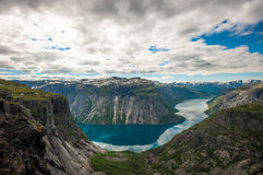 View of lake Ringedalsvatnet, Norway Stock Photos