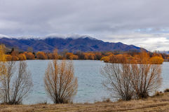 View of Lake Ruataniwha, New Zealand Royalty Free Stock Images