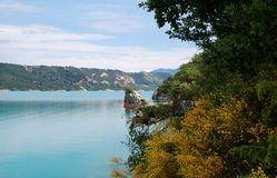 View on the lake of Saint-Croix, Verdon, Provence Stock Photography