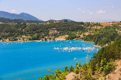 View of lake Serre-Poncon Royalty Free Stock Image