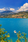 View of lake Serre-Poncon Stock Photography