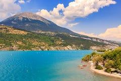 View of lake Serre-Poncon Royalty Free Stock Photos