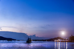 View lake Songkhla at night Stock Images