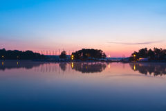 View of a lake during sunrise Royalty Free Stock Images