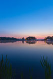 View of a lake during sunrise Stock Photography