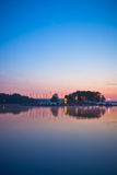 View of a lake during sunrise Royalty Free Stock Photo