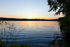 Sunrise. View on a lake during sunrise Stock Photography