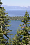 View of Lake Tahoe and Mountains Beyond Royalty Free Stock Images