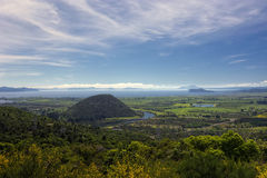View of Lake Taupo from lookout at south end of lake, North Island, New Zealand Royalty Free Stock Image