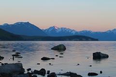 Lake Tekapo at sunrise, South Island, New Zealand royalty free stock photos