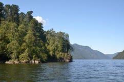 View of the lake Teletskoye Royalty Free Stock Images
