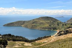 View of Lake Titicaca between Bolivia and Peru Royalty Free Stock Photo