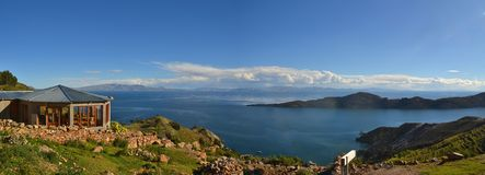 View of Lake Titicaca between Bolivia and Peru Royalty Free Stock Photos