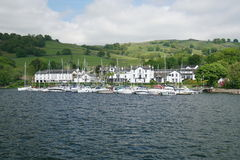 View of Lake Windermere and shores Royalty Free Stock Images