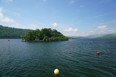 View of Lake Windermere and shores Stock Photo