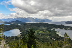View of the lakes, Bariloche, Argentina. View of the lake area close to Bariloche, Patagonia, Argentina royalty free stock photos