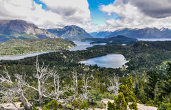 View of the lakes, Bariloche, Argentina. View of the lake area close to Bariloche, Patagonia, Argentina royalty free stock images