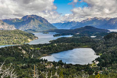 View of the lakes, Bariloche, Argentina. View of the lake area close to Bariloche, Patagonia, Argentina stock photo
