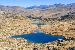 View of the lakes in the Lake Pessons, Andorra Stock Photography