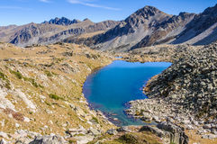 View of the lakes in the Lake Pessons, Andorra Stock Photos