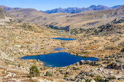 View of the lakes in the Lake Pessons, Andorra Stock Photo