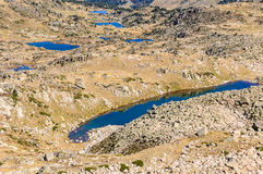 View of the lakes in the Lake Pessons, Andorra Royalty Free Stock Photography