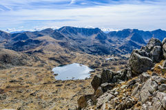 View of the lakes in the Lake Pessons, Andorra Royalty Free Stock Images
