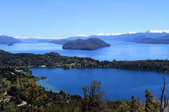 Patagonia Scenics. A view on lakes in Patagonia, South America Royalty Free Stock Photography