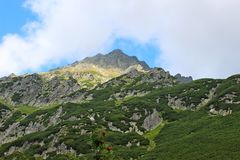 View of 5 lakes valley in High Tatras Stock Photography