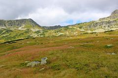 View of 5 lakes valley in High Tatras Royalty Free Stock Photography