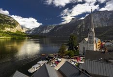 Hallstatt in a cloudy summer day stock image