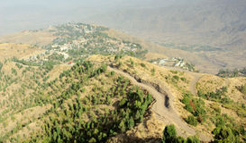 View of Lalibela, Ethiopia royalty free stock image