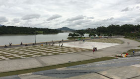 View of the Lam Vien Square in Dalat, Vietnam.  Royalty Free Stock Photography