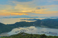 View of Lamma from  Ling Kok Shan Royalty Free Stock Photo
