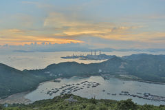 View of Lamma from  Ling Kok Shan Stock Photos