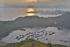 View of Lamma from  Ling Kok Shan Royalty Free Stock Images