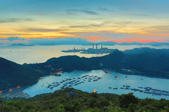 View of Lamma from  Ling Kok Shan Stock Photo