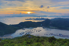View of Lamma from  Ling Kok Shan Royalty Free Stock Image