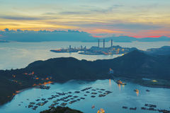 View of Lamma from  Ling Kok Shan Stock Images
