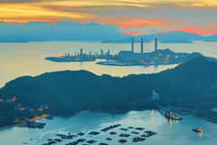 View of Lamma from  Ling Kok Shan Stock Photography