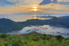 View of Lamma from  Ling Kok Shan Stock Image