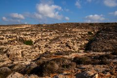 View of Lampedusa, Sicily. View of Lampedusa hill in the summer season, Sicily royalty free stock photography