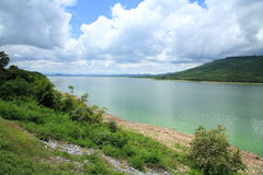 View of Lamtaklong dam Royalty Free Stock Photography