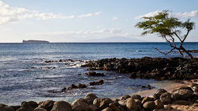 View of Lanai and Molokini Stock Image