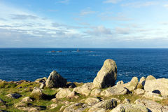 View from Land`s End Cornwall England UK including the Longships lighthouse Royalty Free Stock Image
