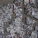 View landfill bird's-eye view. Landfill for waste storage. View Royalty Free Stock Photo