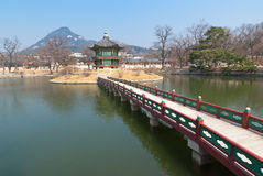 View landsaft from  Emperor Kyoungbok palace at Seoul Stock Image