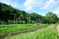 View of Landscape at Baan Natong village Royalty Free Stock Photos