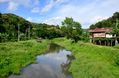 View of Landscape at Baan Natong village Stock Photography