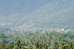 View on landscape from Borobudur temple ancient buddhist temple Stock Photography